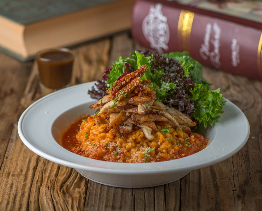 Sun Dried Tomato Risotto with Grilled Chicken