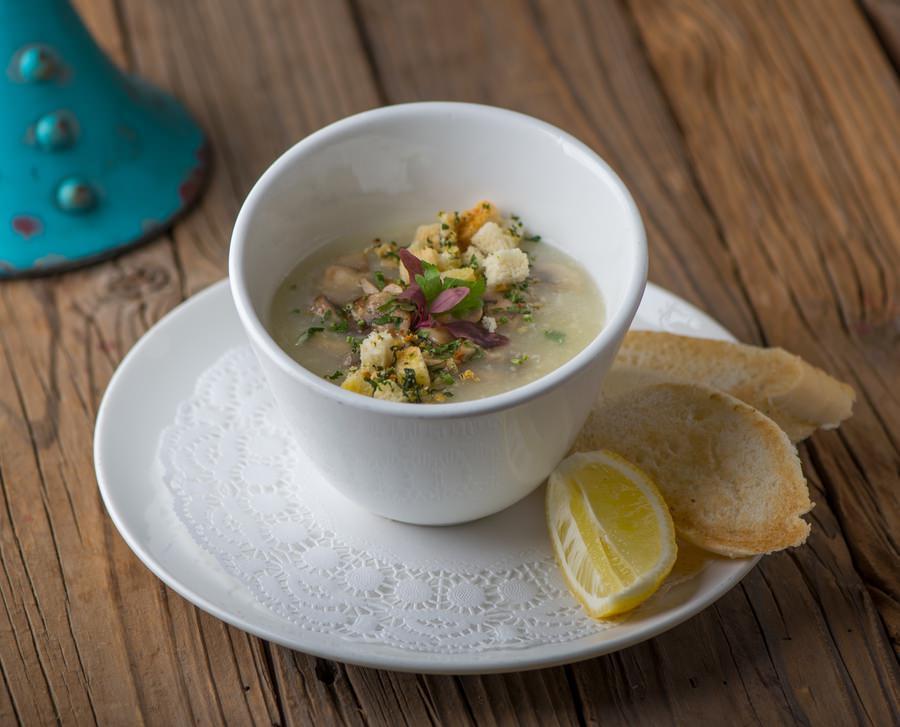 Garlic Mushroom Soup