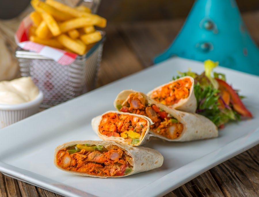 Tandoori Chicken & Pepper Wrap