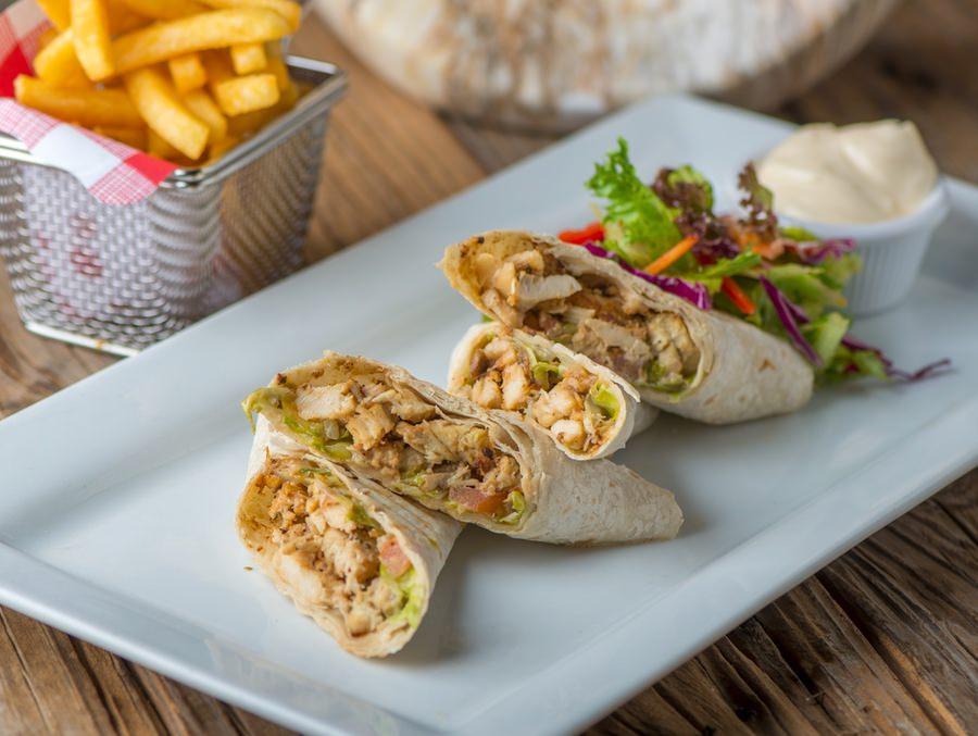 Grilled Chicken & Mushroom Wrap