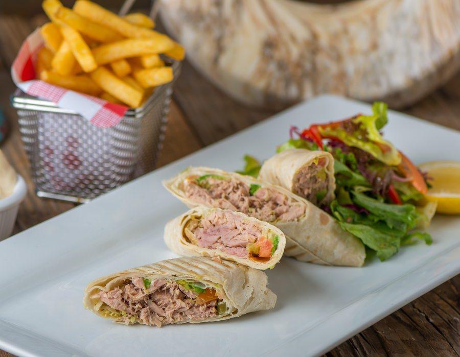 Tuna Guacamole Wrap