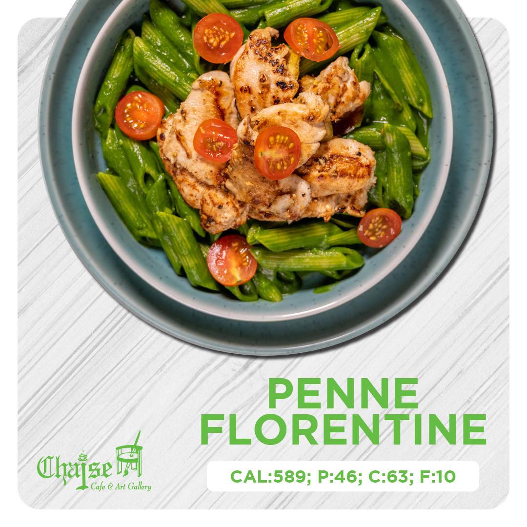 Healthy Penne Florentine