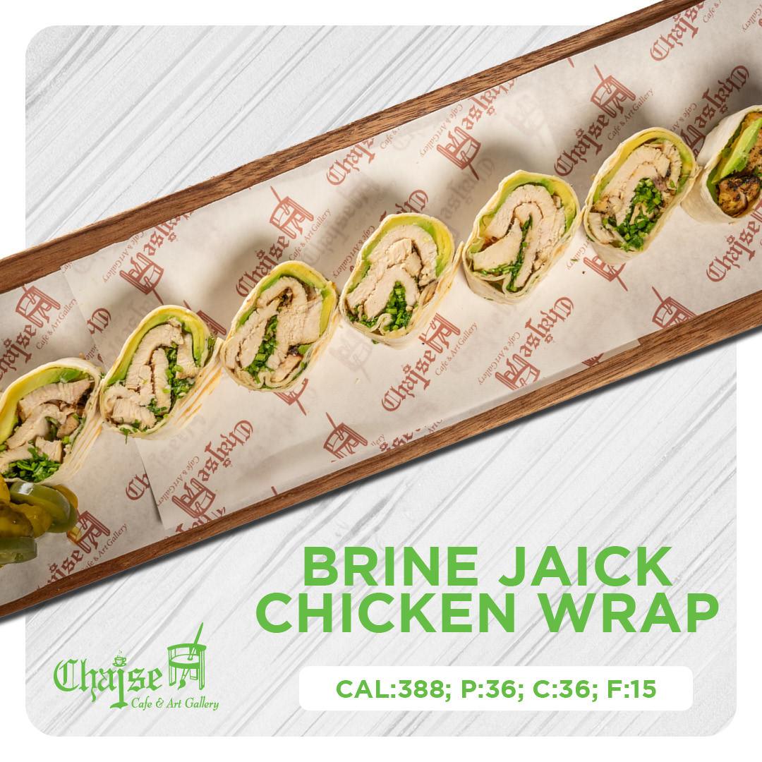 Brine jaick chicken wrap