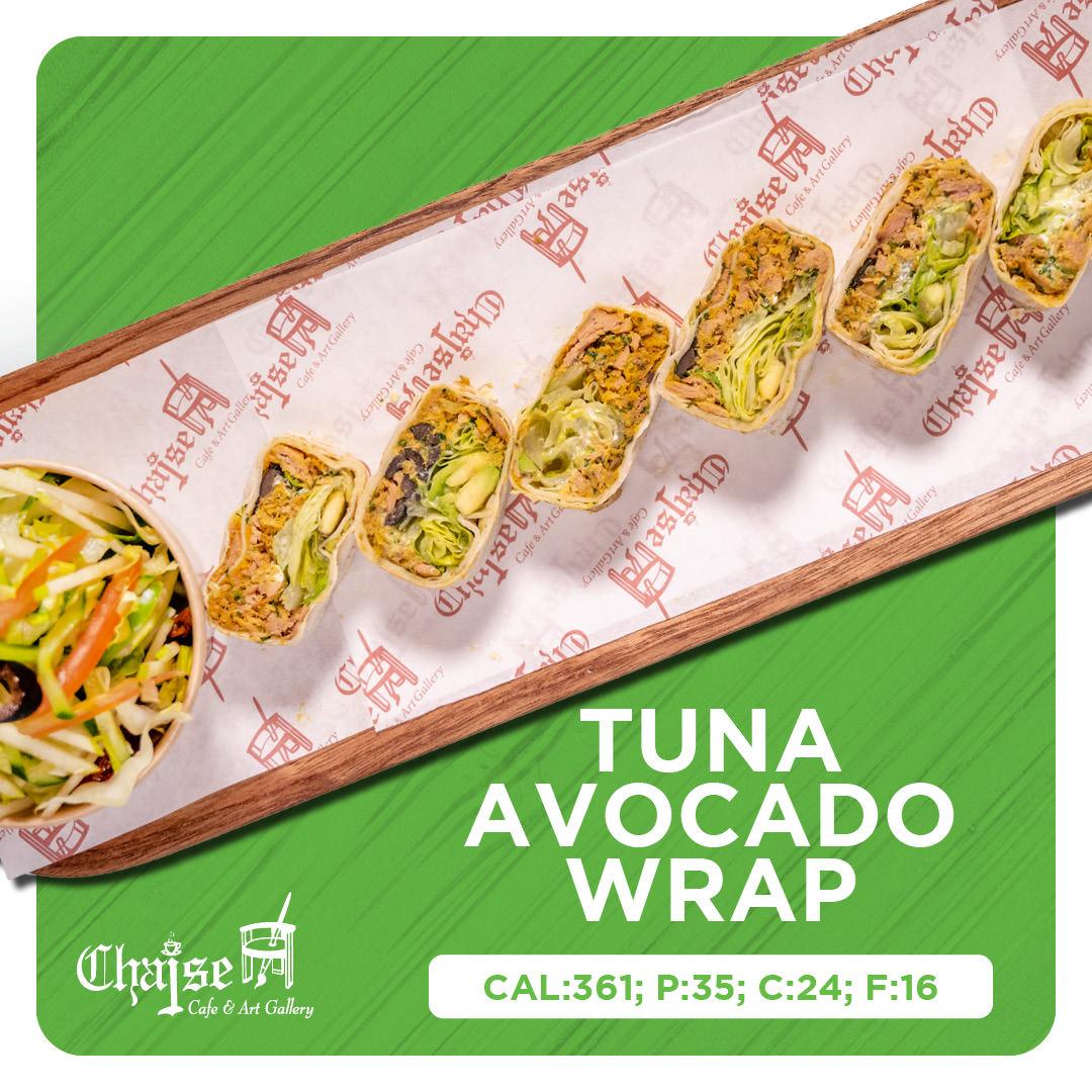 Healthy Tuna Avocado wrap