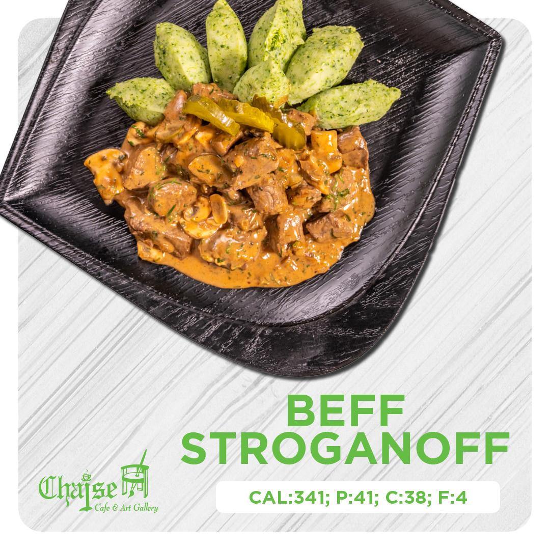 Healthy Beef stroganoff
