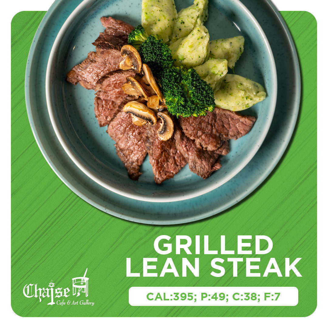 Grilled lean steak