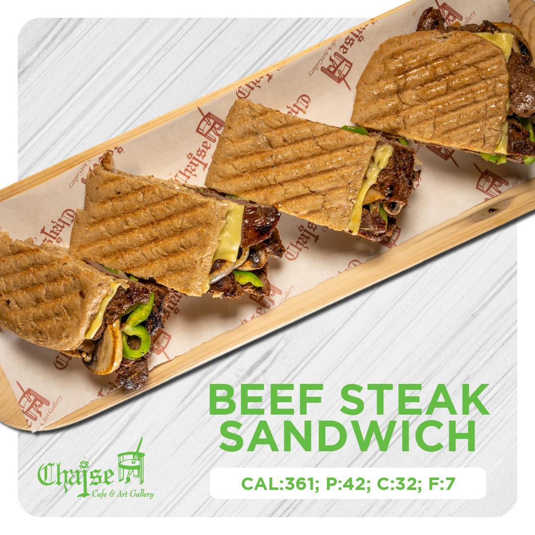 Healthy Beef steak sandwich